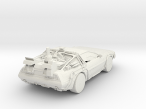 Delorean in White Natural Versatile Plastic