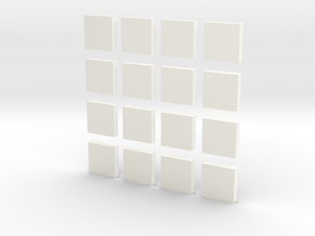 DIY 2048 Coaster Set (White Pieces) in White Strong & Flexible Polished