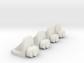 4x Twist-in Shelf Pin in White Natural Versatile Plastic