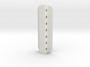 Stick Tail Mount in White Natural Versatile Plastic