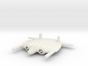 1/200 Vought XF-5U 'Flying Flapjack' in White Natural Versatile Plastic