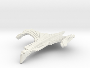 WarRock Class HvyCruiser ( Wings Up ) in White Natural Versatile Plastic