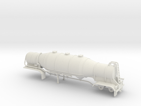 S-scale 1/64 Dry Bulk Trailer 08b in White Natural Versatile Plastic
