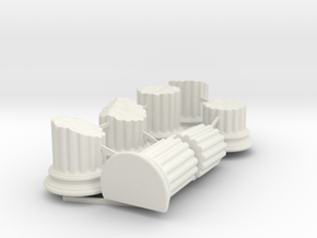 Broken Columns in White Natural Versatile Plastic