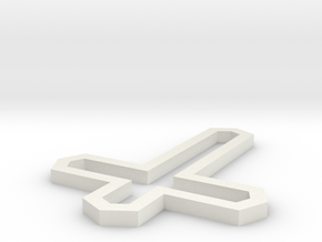 Modern Cross in White Natural Versatile Plastic