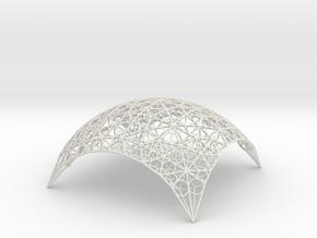 DomeStar18 in White Natural Versatile Plastic