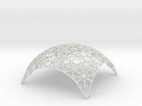 DomeStar12 in White Natural Versatile Plastic
