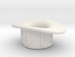 Presta Valve Tube Rim Adapter, 140102 in White Natural Versatile Plastic