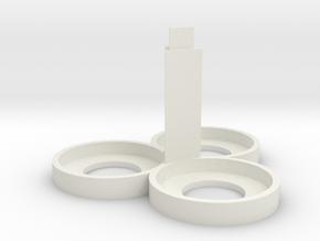 Citadel Bottle Holder 2x2 With Support Pillar in White Natural Versatile Plastic