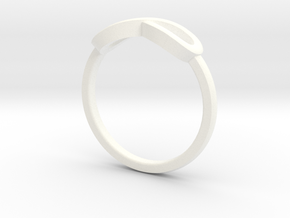 Infiniti Ring  in White Processed Versatile Plastic