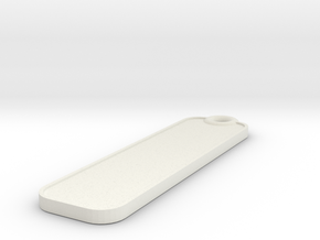 Key Fob - Plain in White Natural Versatile Plastic