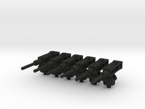 Ametralladora/Machine gun (6x) in Black Acrylic