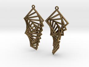 Arithmetic Earrings (Rhombus) in Polished Bronze