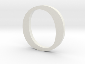 O (letters series) in White Strong & Flexible