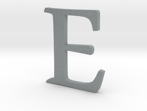 E (letters series) in Polished Metallic Plastic