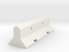Barrier in White Natural Versatile Plastic