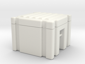 Supply Crate in White Natural Versatile Plastic