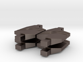 4 x 1:1 Replicator Block from SG1 in Polished Bronzed Silver Steel