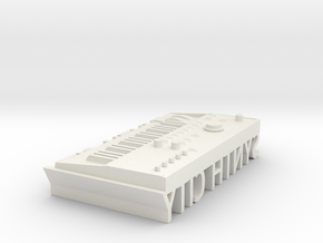 Synth City in White Natural Versatile Plastic