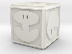 Mario Die in White Natural Versatile Plastic