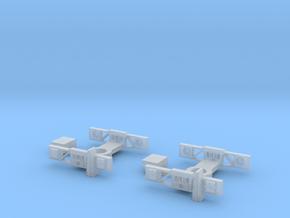 Wagon Dimond Frame Bogie X2 in Smooth Fine Detail Plastic