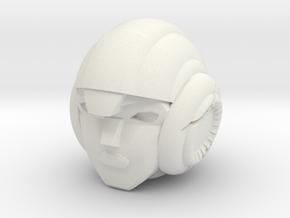TTM Arcee Head in White Natural Versatile Plastic