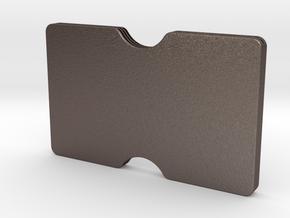 Slimline 3 card wallet in Polished Bronzed Silver Steel