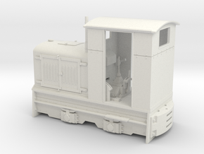 Feldbahn Gmeinder 20/24 (Spur 1f) 1:32 in White Natural Versatile Plastic