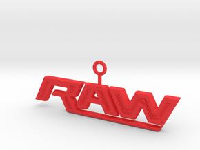 Raw Logo in Red Processed Versatile Plastic