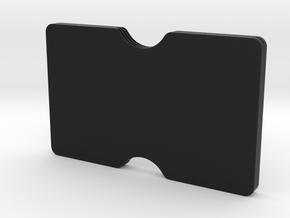 Slimline 3 card wallet in Black Natural Versatile Plastic