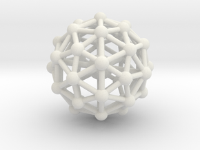 Pentakis Icosidodecahedron w/ Orb Desk Toy in White Strong & Flexible