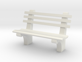 1:24 Park Bench Sixties (Not Full Scale) in White Strong & Flexible