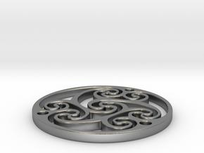 "Celtic Amulet [3.6cm, 1.4""] in Natural Silver"