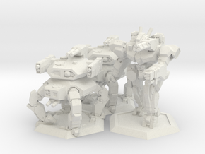 WHAM- Fusion Era Battle Pack A (1/285th) in White Natural Versatile Plastic