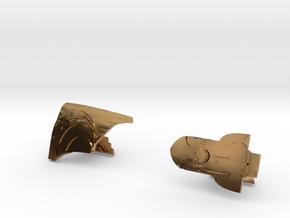 Rocketeer Cufflinks in Polished Brass