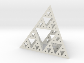 Sierpinski-tetrix in White Natural Versatile Plastic