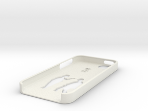 Bottom iphone 5 case in White Natural Versatile Plastic