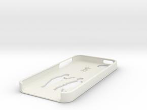 Bottom iphone 5 case in White Natural Versatile Plastic