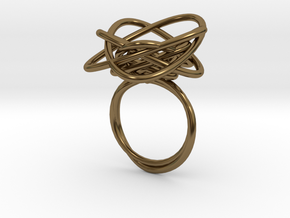 Sprouted Spiral Ring (Size 7) in Polished Bronze