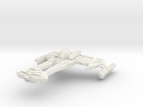 Wo'bortas Class Battleship in White Natural Versatile Plastic