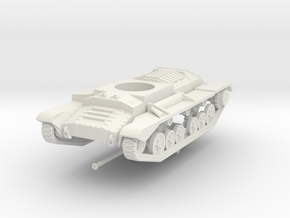 Vehicle- Valentine Tank MkXI (1/72) in White Natural Versatile Plastic
