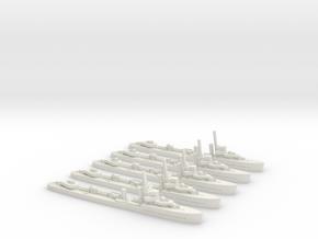 Vampire (V/W class) 1:1800 x5 in White Natural Versatile Plastic