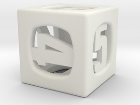Thoroughly Modern d6 in White Natural Versatile Plastic