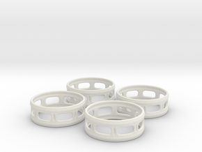 Windowed Napkin Rings (4) in White Natural Versatile Plastic