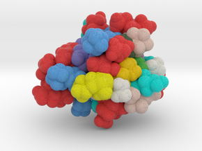 ProteinScope-1SMW-34CA1C3D in Full Color Sandstone