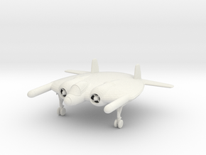 1/144 Vought XF-5U 'Flying Flapjack' in White Natural Versatile Plastic
