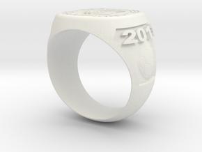 Soccer Ring (Championship) in White Natural Versatile Plastic