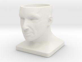 Human Face Pot V1 - H88MM in White Strong & Flexible