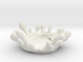 Splash - small decorations coaster in White Natural Versatile Plastic