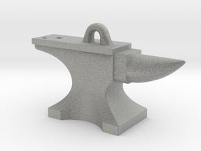 Anvil Pendant - Original Design in Metallic Plastic